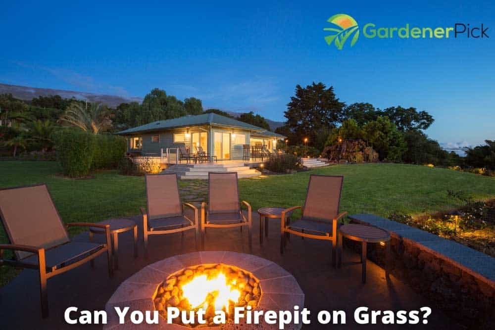 can you put a fire pit on grass